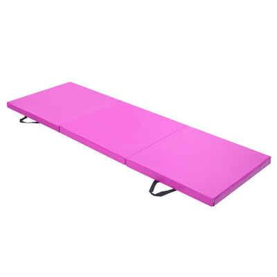 esyBe Gymnastikmatte »6ft x 2ft 3-Panel Faltbare Gymnastikmatte Yoga Gymnastik Aerobic Workout Fitness Fußmatten mit Tragegriffen Lila«