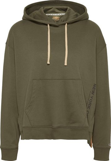TOMMY JEANS Kapuzensweatshirt »TJW SIDE SLIT HOODIE« mit kontrastfarbener Kordel & seitliche Schlitzen