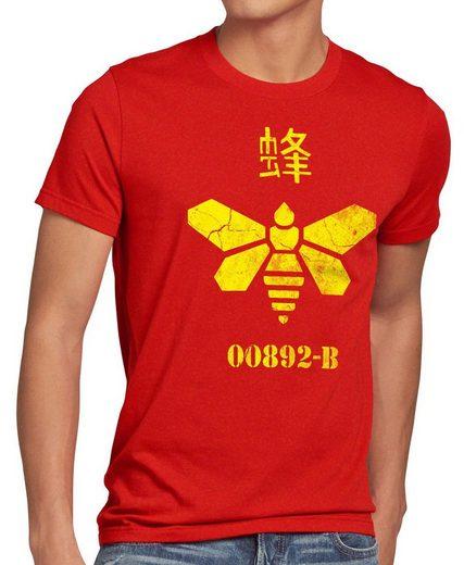 style3 Print-Shirt Herren T-Shirt Golden Moth Chemical breaking walter chemie bad biene heisenberg