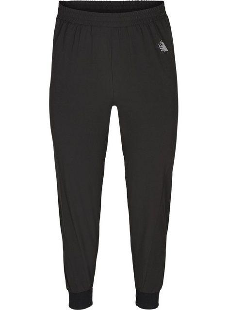 Hosen - Active by ZIZZI Sporthose Große Größen Damen Lockere Hose mit Taschen und Rippbündchen ›  - Onlineshop OTTO