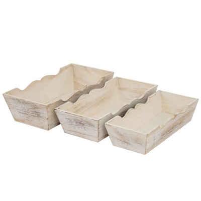 MCW Dekoschale »H283« (Set, 3 Stück, 3er), 3x Holzschale in unterschiedlichen Größen, Ineinander stapelbar