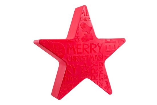 "8 seasons design Gartenleuchte »Shining Star ""Merry Christmas""«, 60 cm rot für In- und Outdoor"