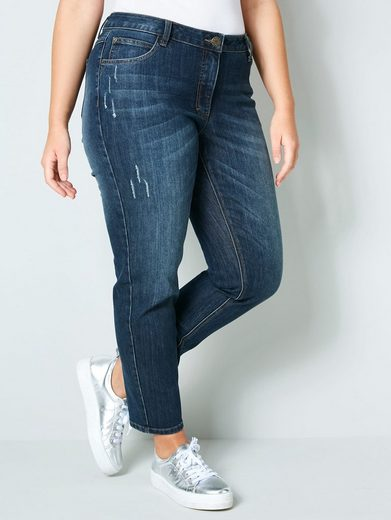Janet & Joyce by Happy Size Slim Fit Jeans knöchellang