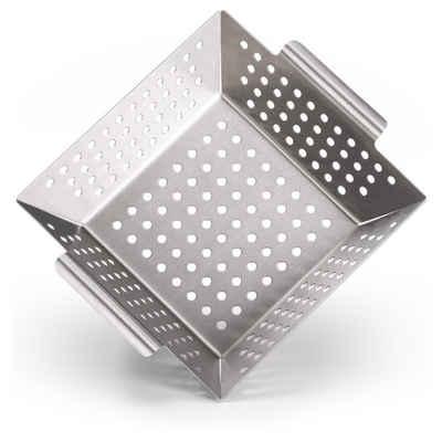 Blumtal Grillschale »Grillkorb aus 100% Edelstahl - perfekt für Grillgemüse, Grillschale geeignet für alle Grillarten«, Edelstahl, (1-St)