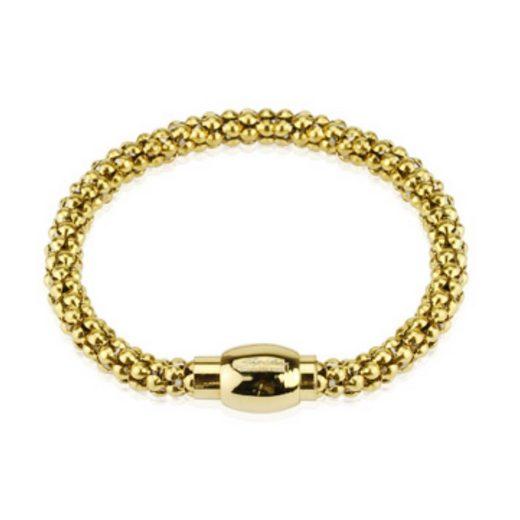 BUNGSA Armband »Armband mit Magnetverschluss Gold aus Gummi Unisex« (inkl. Schmuckbeutel aus Organza), Bracelet Armschmuck Damen Herren Freundschaft