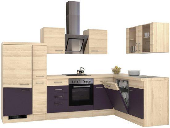 Flex-Well Winkelküche, mit E-Geräten, Stellbreite 310 x 170 cm