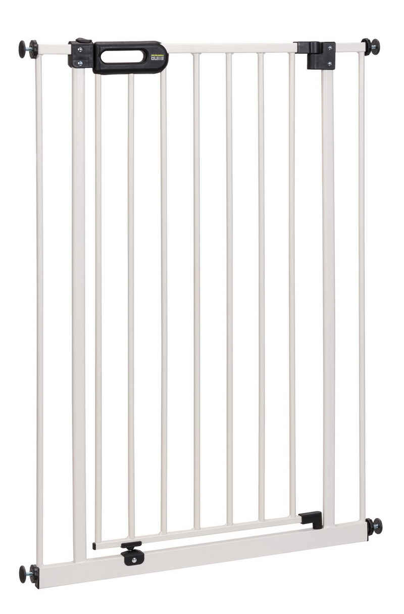 BOMI Türschutzgitter »Kinderschutzgitter Extra Hoch Merle 73-161 cm zum Klemmen«, 90 Grad Feststellfunktion der Tür - Selbstschließend - Ohne Bohren