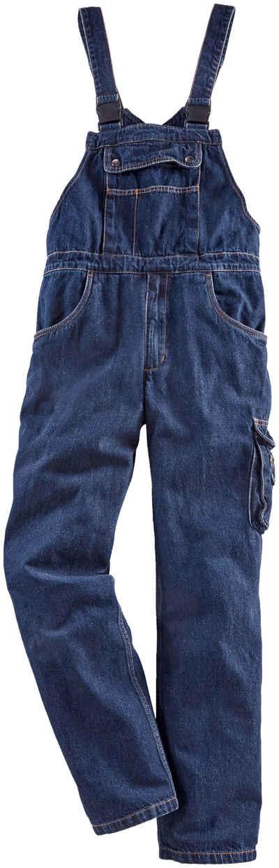 Latzhose »Worker Jeans« mit dehnbarem Bund