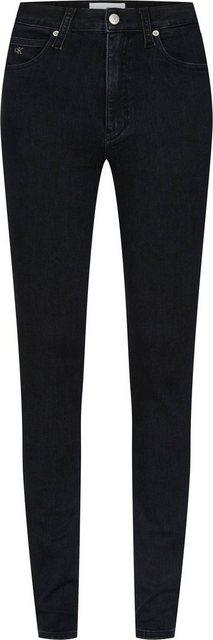 Hosen - Calvin Klein Jeans Skinny fit Jeans »CKJ 010 HIGH RISE SKINNY« mit CK Monogramm Stickerei › schwarz  - Onlineshop OTTO