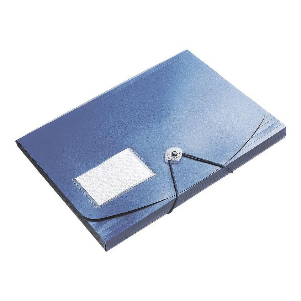 Foldersys Eckspannermappe »Jumbo« in blau