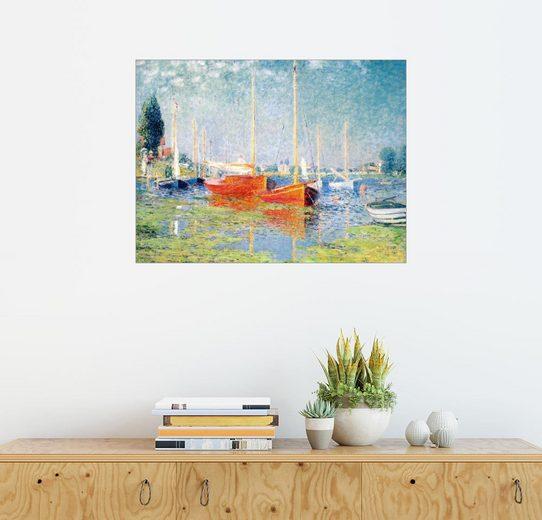 Posterlounge Wandbild, Die roten Boote, Argenteuil