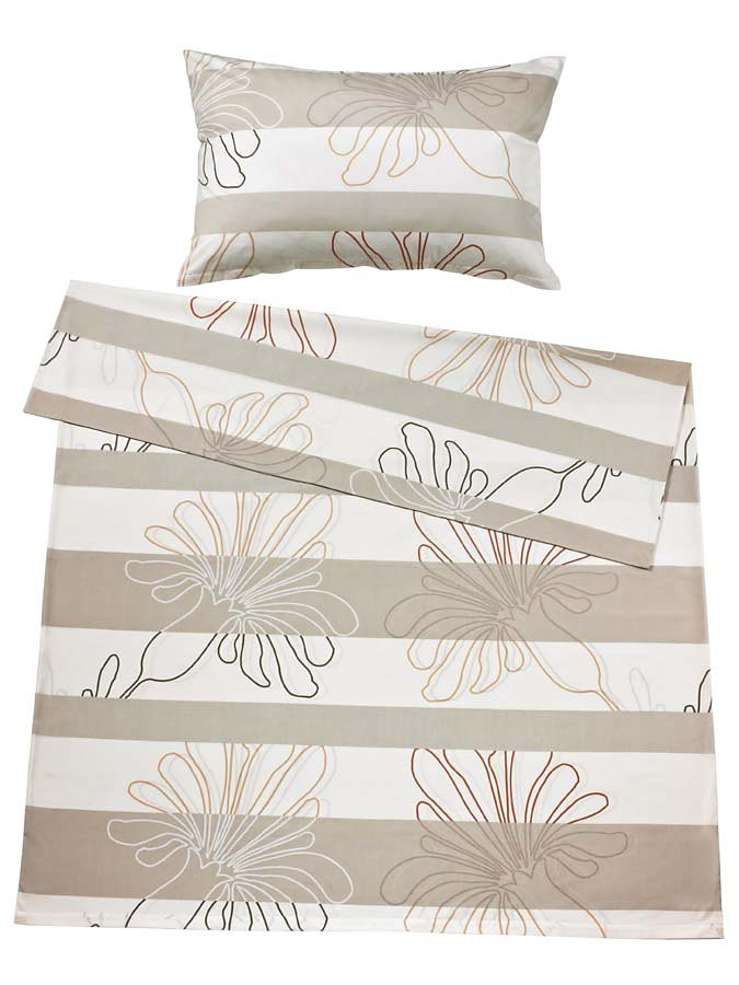 heine home Designer-Bettwäsche in beige/natur