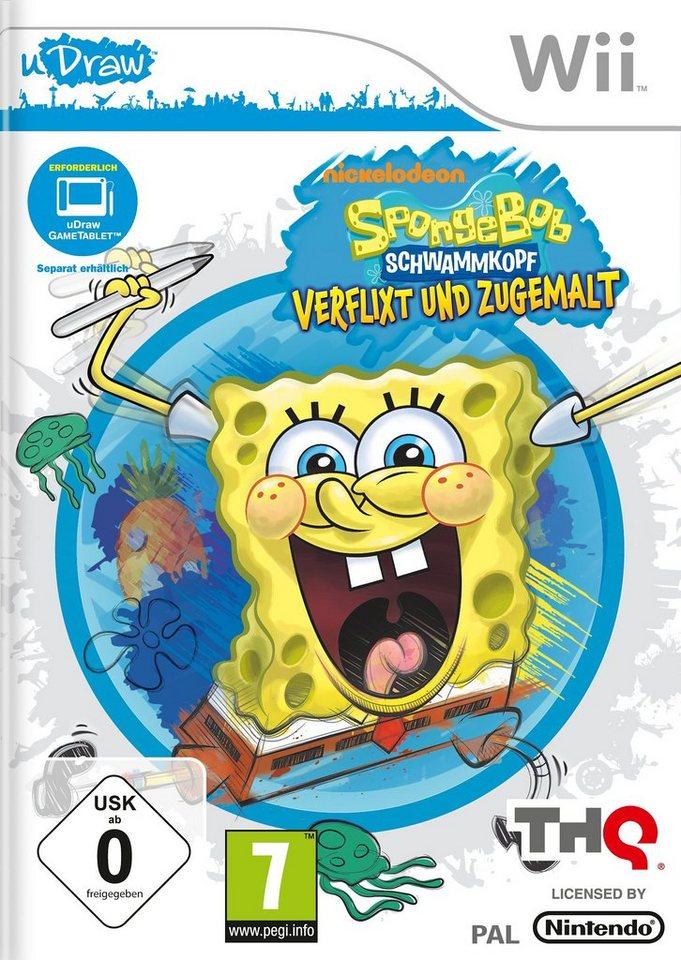 Wii - Spiel »SpongeBob Schwammkopf: Verflixt und zugemalt«