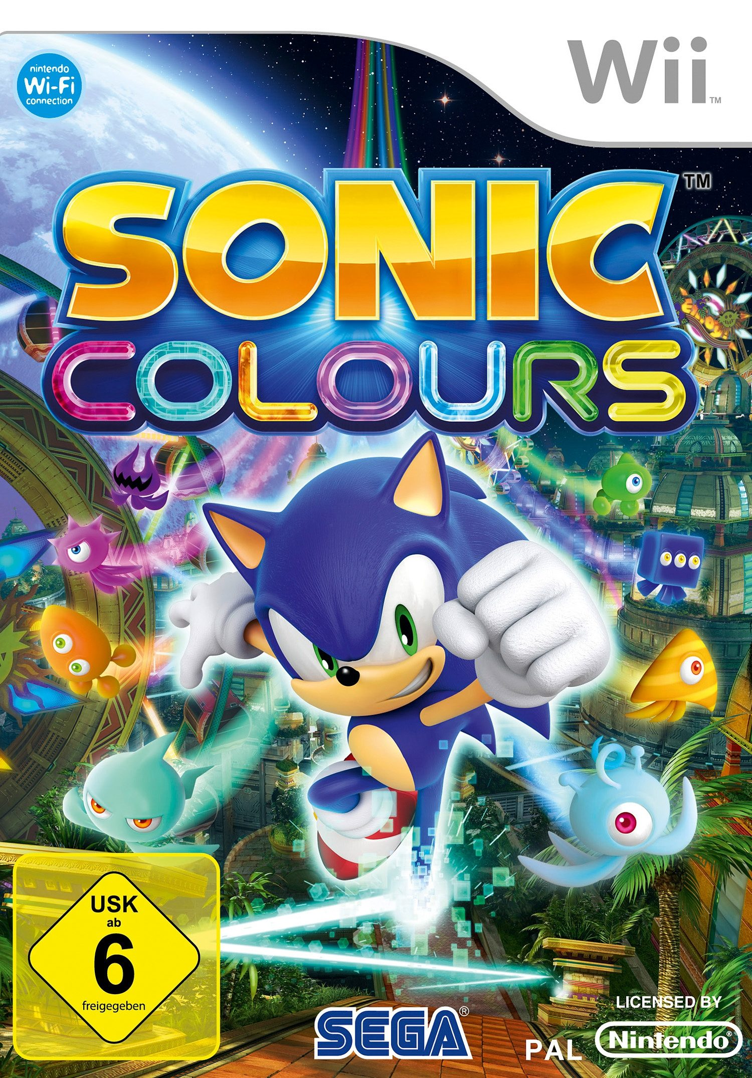 Wii - Spiel »Sonic Colours«
