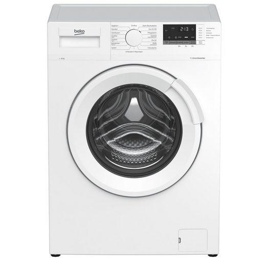 BEKO Waschmaschine WMB101434LP1, 10 kg, 1400 U/min, AddXtra Nachlegefunktion, Watersafe+, Digitales Display, Aquawave-Schontrommel