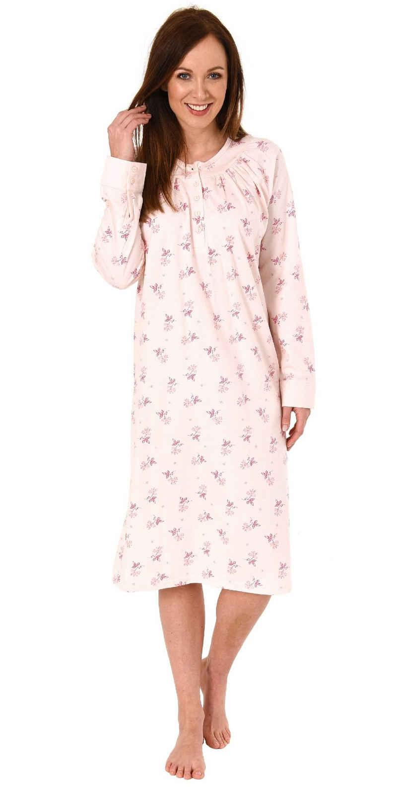 Normann Nachthemd »Elegantes Damen Nachthemd mit 105 cm Länge und Kopfleiste am Hals - 291 210 90 190«