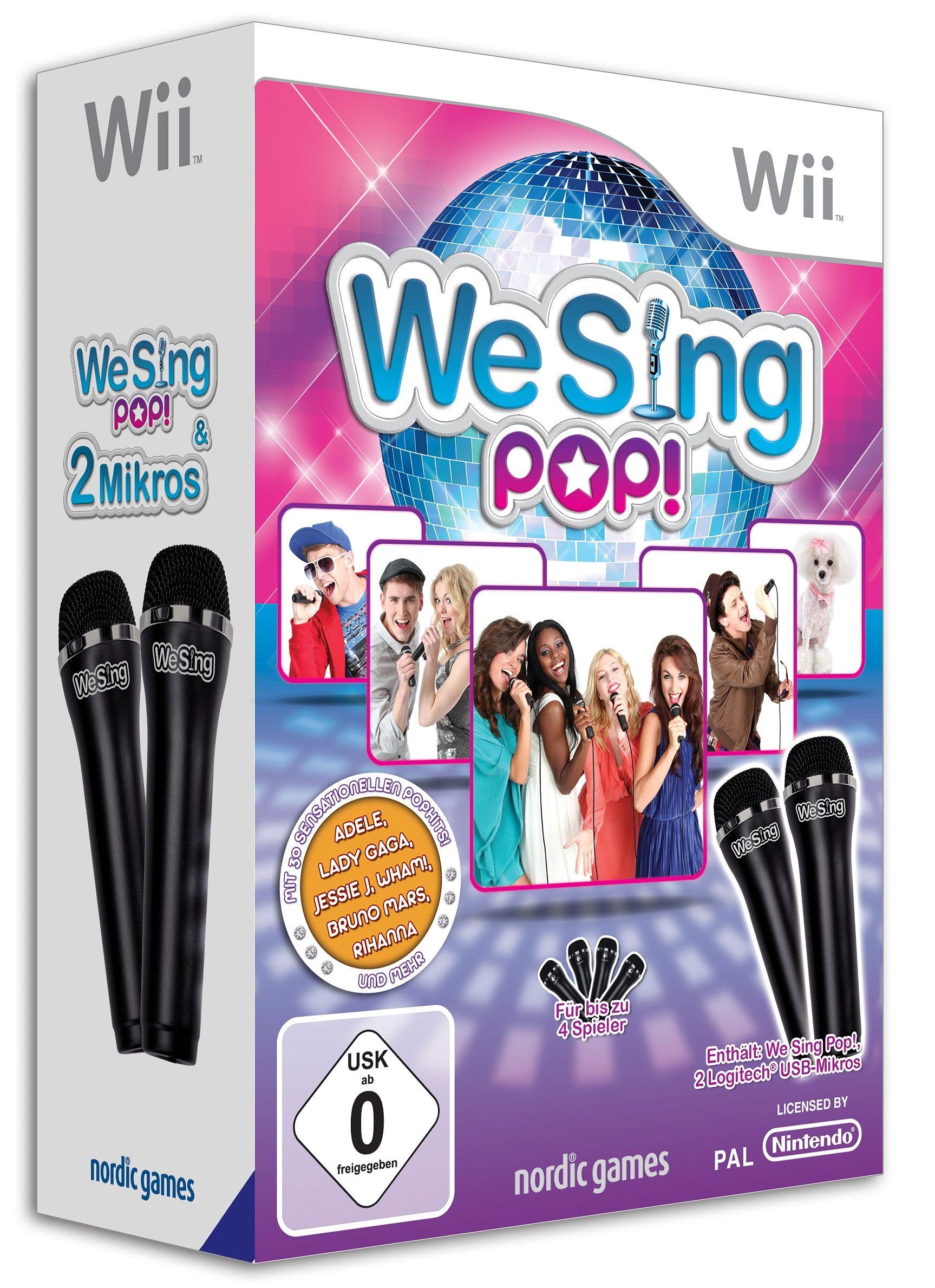 Wii - Spiel »We Sing Pop! (inkl. 2 Mikrofonen)«