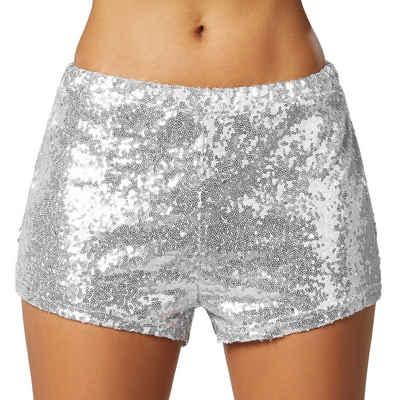 tectake Hotpants »Pailletten-Shorts« (1-tlg)