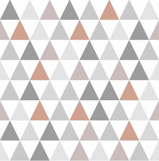 Vliestapete »Tarek Copper«, geometrisch