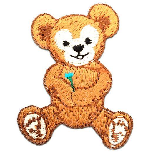 Catch the Patch Aufnäher, Polyester, Teddy Bär Kinder - Aufnäher, Bügelbild, Aufbügler, Applikationen, Patches, Flicken, zum aufbügeln, Größe: 4 x 5 cm