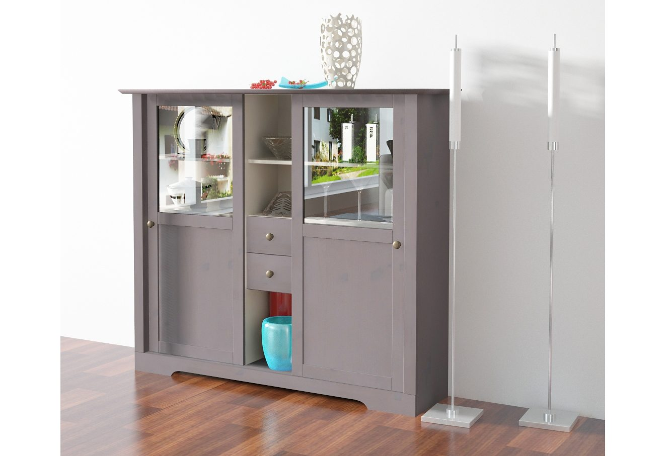 Highboard, Home affaire, Breite 140 cm, Höhe 120 cm