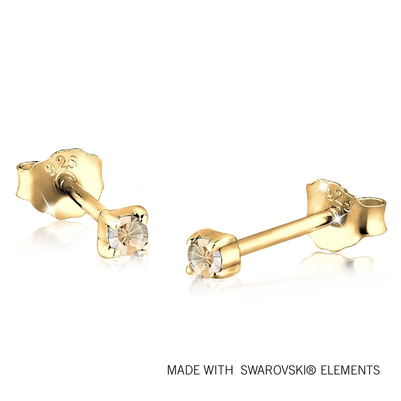 GOLDHIMMEL Ohrringe »Basic Swarovski® Kristalle 925 Silber«