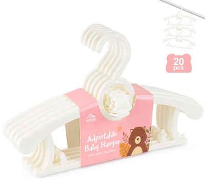 Homewit Kleiderbügel »Homewit 20-teilig ausziehbare Babykleiderbügel, 29 cm ~ 37 cm ausziehbare Kinderkleiderbügel«, (Set, 1-tlg), 100% aus neues Kunststoff, Ideal für Baby und Kind