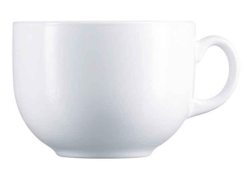 Luminarc Teeglas »Jumbo«, Opalglas, Jumbotasse 720ml Opalglas weiß 1 Stück
