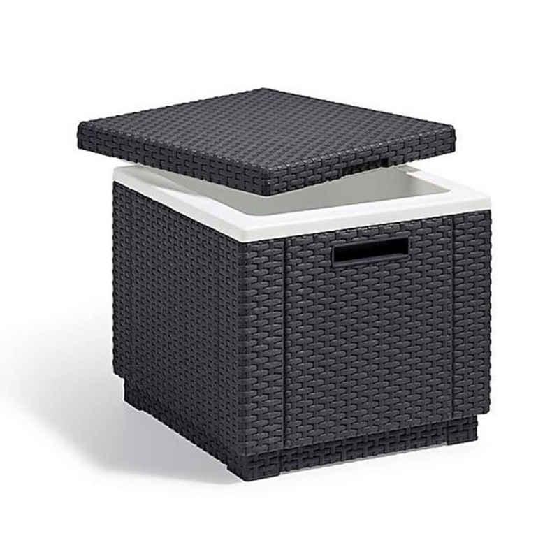 Allibert Gartentisch »Allibert Ice Cube Hocker mit Kühlbox Graphit 213828«