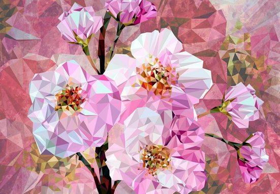 KOMAR Vliestapete »Blooming Gems 4er«