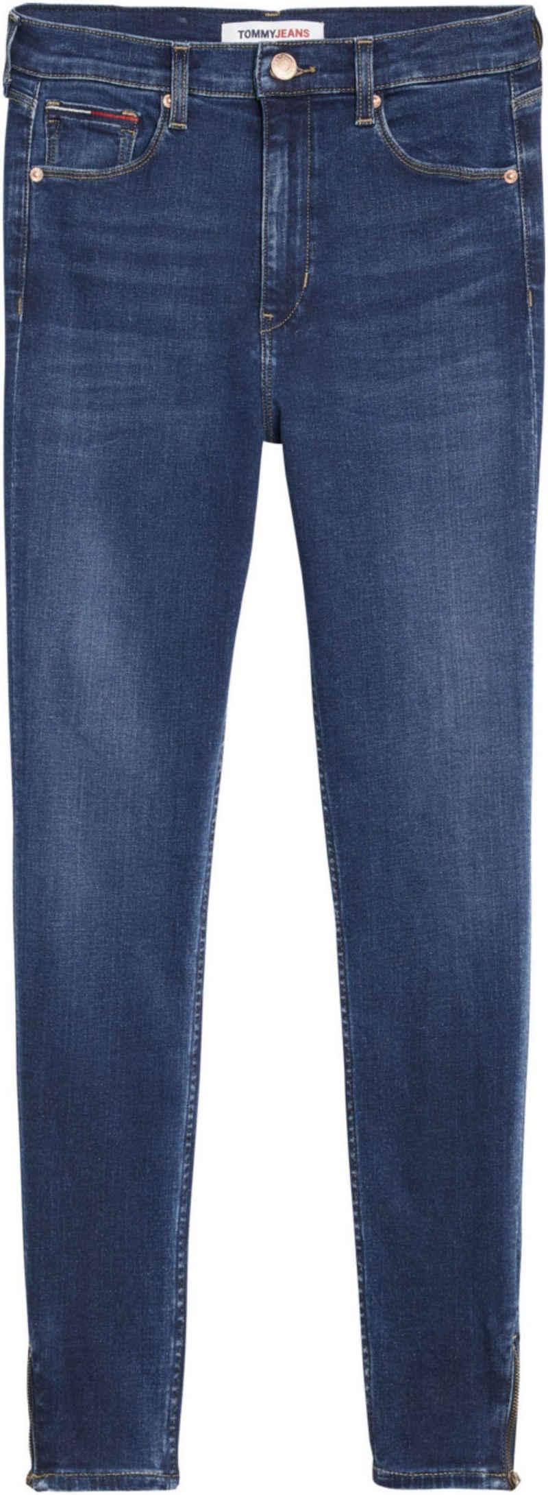 Tommy Jeans Skinny-fit-Jeans »SYLVIA HR SKNY NKL ZP BE154 DBST« mit Tommy Jeans Logo-Flag