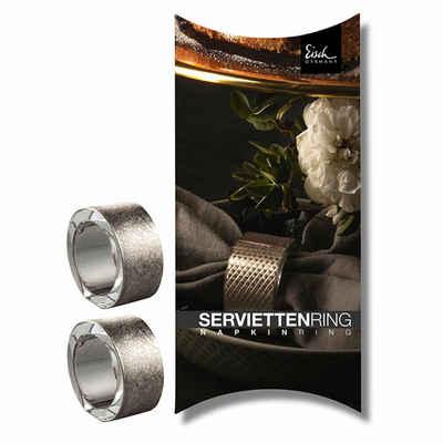 Eisch Serviettenring »2er Set Gold Rush Platin 50 mm«, Glas