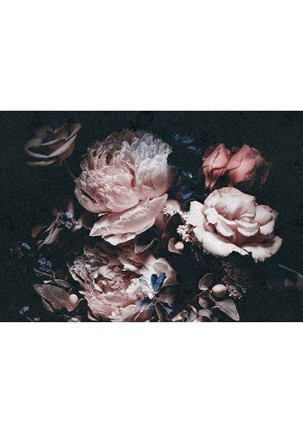 Consalnet Vliestapete »Rosafarbige Blumen« flora...
