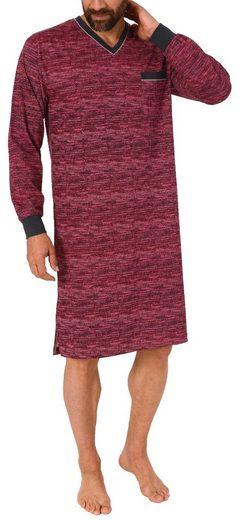 Normann Nachthemd »Herren Nachthemd langarm - auch in Übergrössen bis Grösse 70 - Minimalprint - 291 90 431«