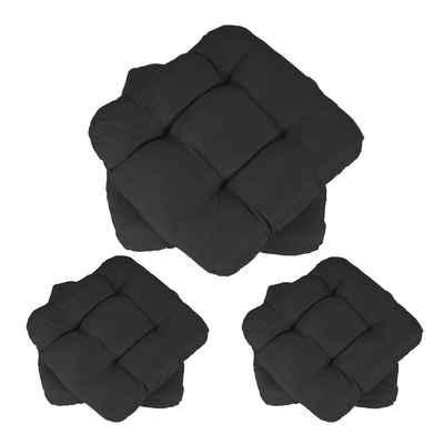 MCW Sitzkissen »Milano-6«, 6er-Set, Leicht glänzende Oberfläche, 4 Punktsteppung, Sehr bequem dank dickem Polster