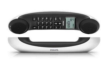 Philips M5551 DECT Telefon mit AB in weiß-grau