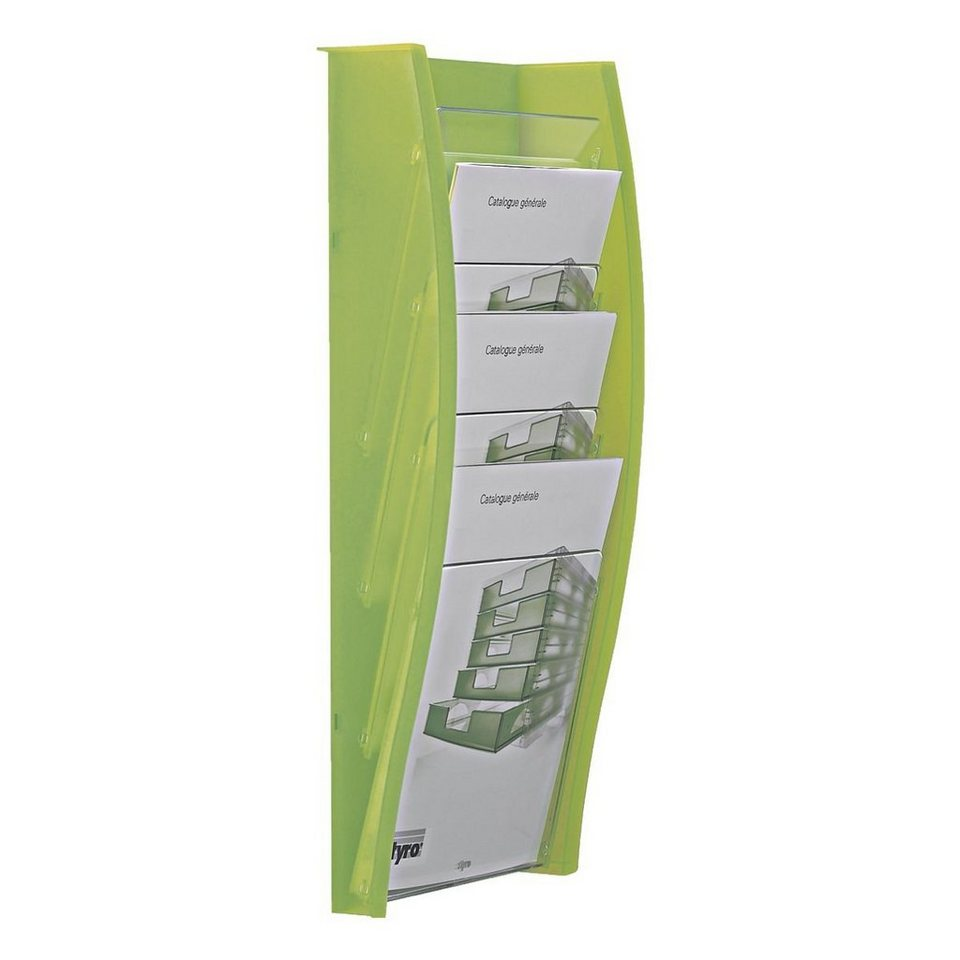Styro Wand-Prospekthalter »styrodisplay« in hellgrün