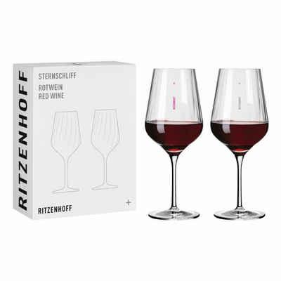 Ritzenhoff Rotweinglas »Sternschliff Rotwein 2er-Set 001«, Kristallglas, Made in Germany
