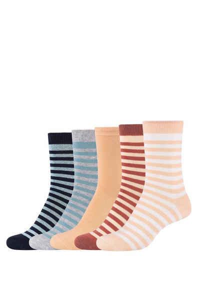 s.Oliver Socken (5-Paar) in tollem Design
