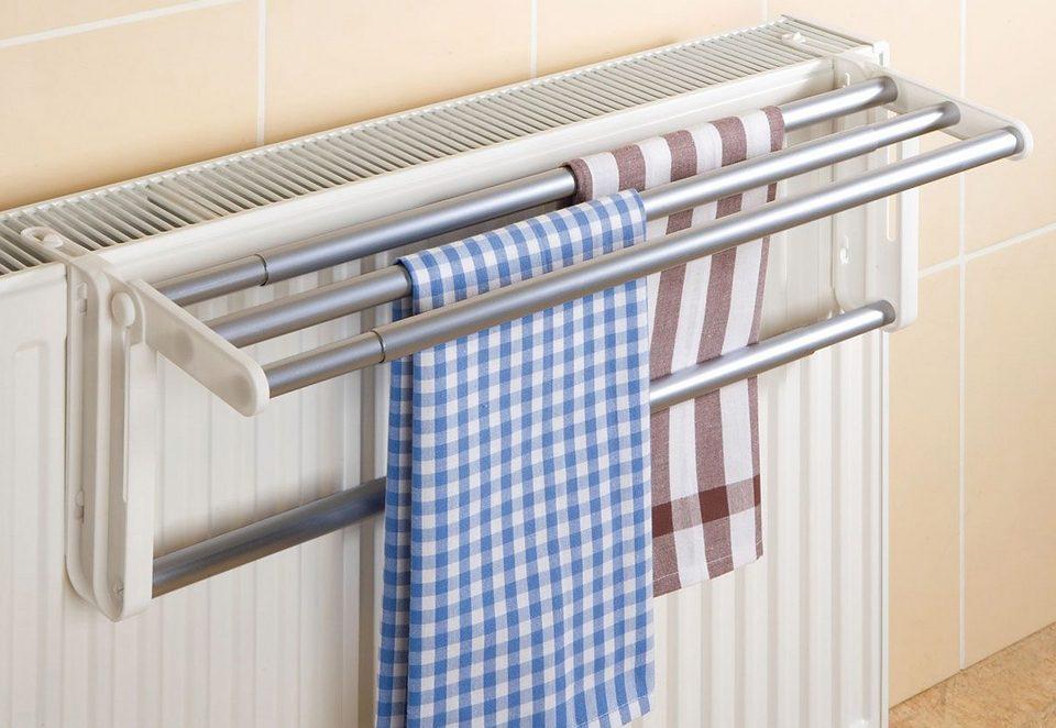 Heizkörper-Wäschetrockner 2,5 m weiß Trocknen Wäsche Wäscheleine Wäscheständer