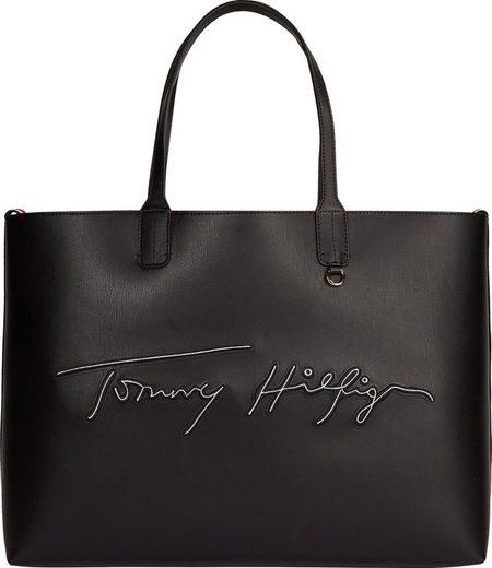 TOMMY HILFIGER Shopper »Iconic Tommy Tote Signature«, mit hübscher Pochette