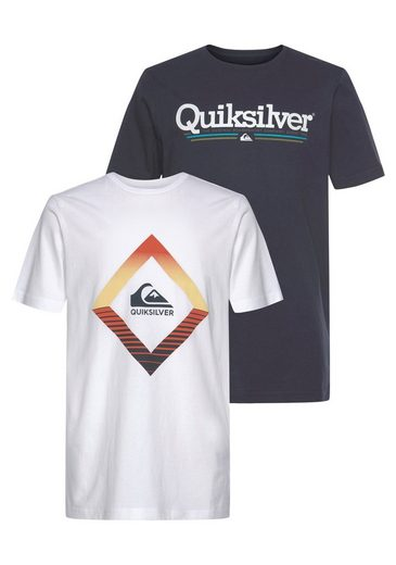 Quiksilver T-Shirt »FLAXTON« (Packung, 2-tlg., 2er-Pack)