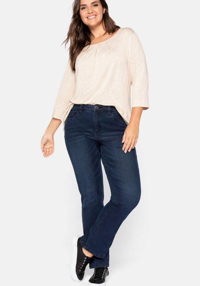 sheego -  Gerade Jeans mit Push up Effekt