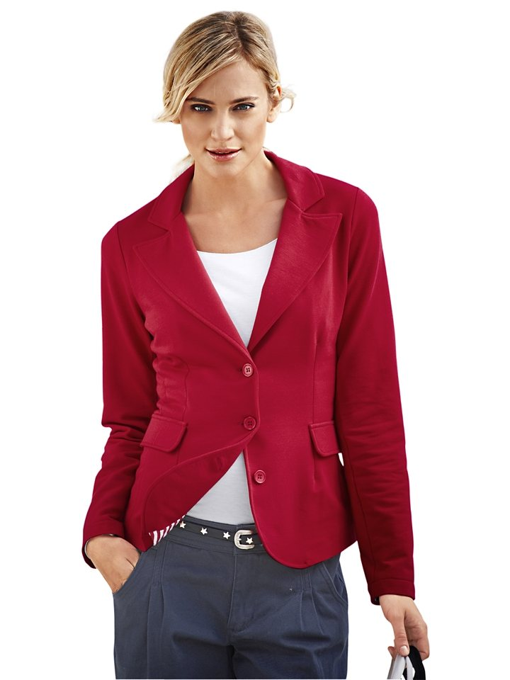 Jerseyblazer in rot