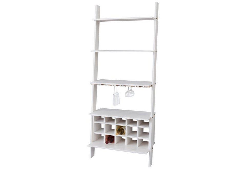 Weinregal, Home affaire, Breite 70 cm in weiß