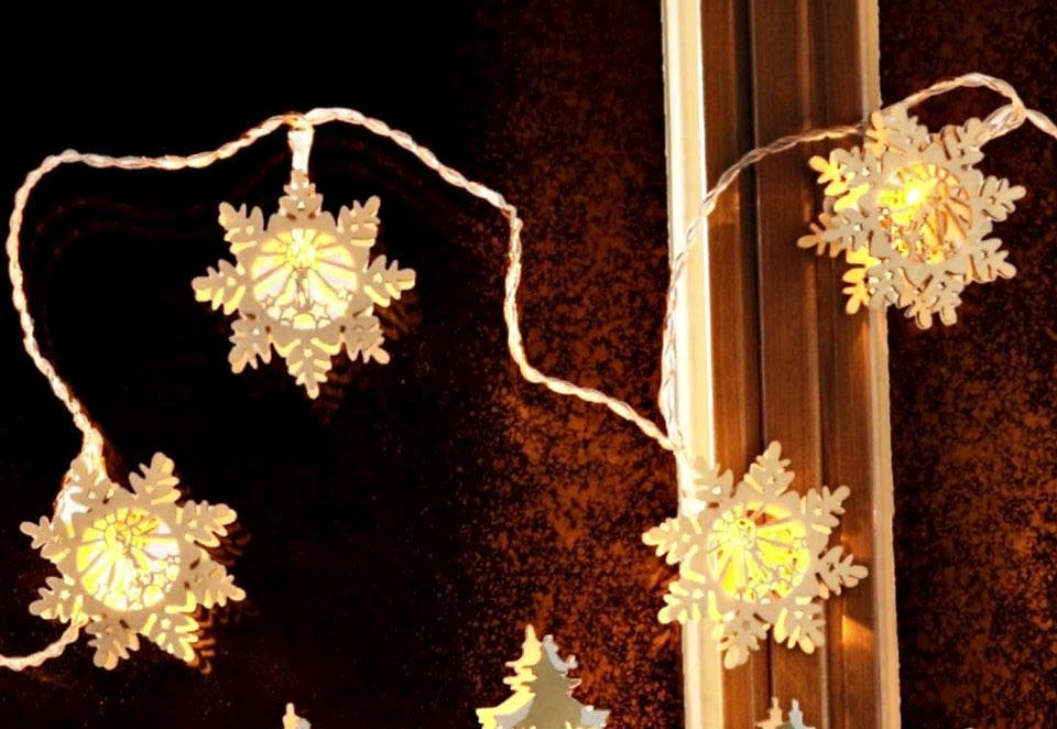 LED-Lichterkette »Schneeflocke« (10tlg.) in natur