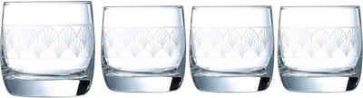 Luminarc Whiskyglas »Paradisio«, Glas, mit Pantographie-Optik, 4-teilig