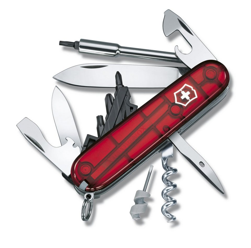 Victorinox Taschenmesser »Cyber Tool 29« in Rot Transparent