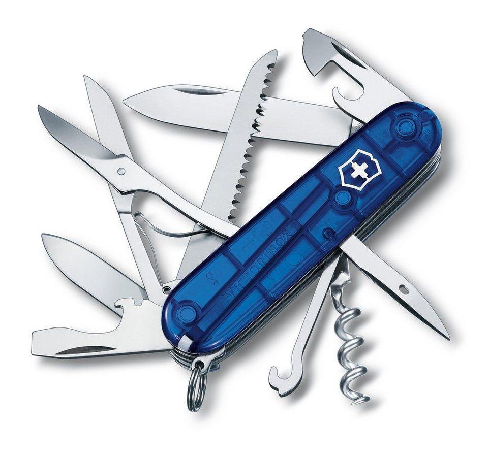 Victorinox Taschenmesser Huntsman in Blau Transparent