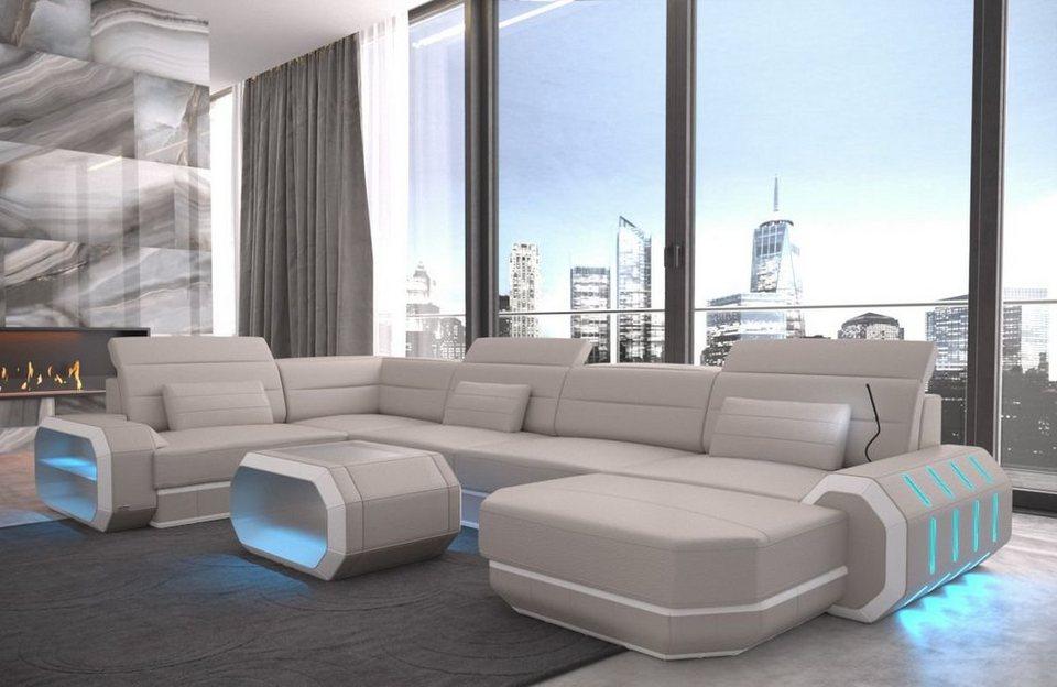 Sofa Dreams Sofa »Roma«, U Form, Hochwertige Verarbeitung ...